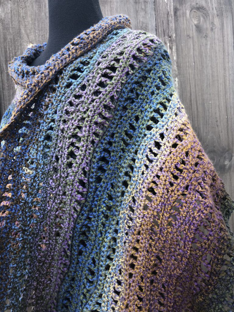 Rivers Shawl Free Crochet Pattern | Rich Textures Crochet