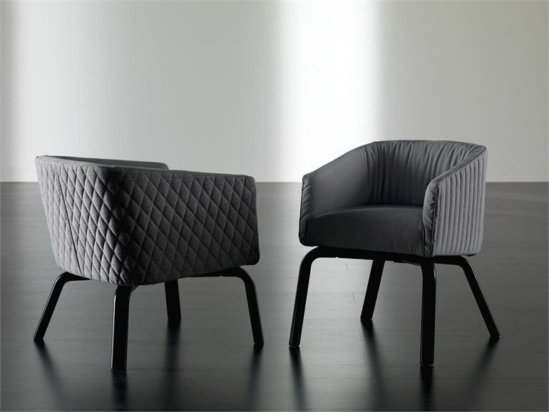 Upholstered chair with removable cover LOLITA WOOD Lolita Collection by Meridiani