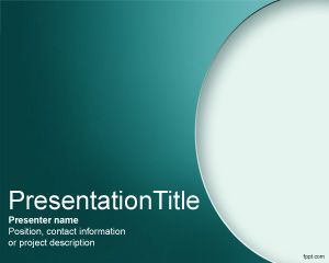 free seminar powerpoint template with nice curved effect in the