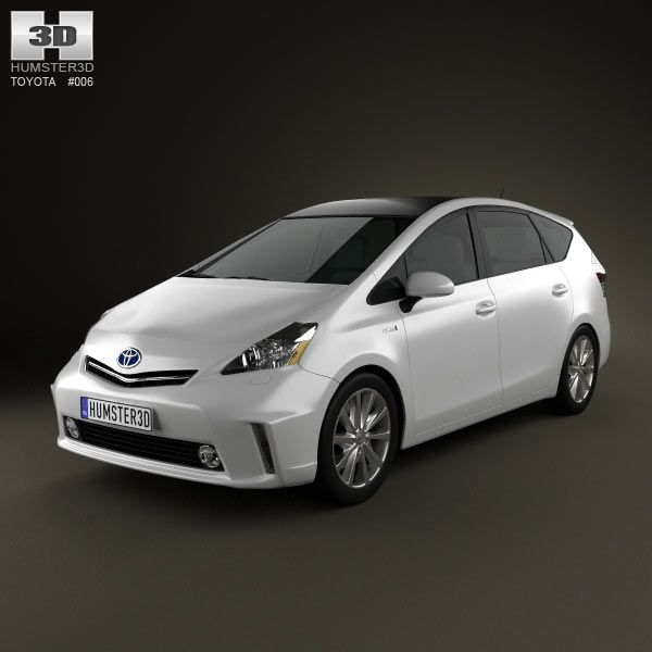 Toyota Prius V 3d model from humster3d Price $75