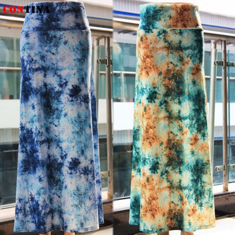 Women Maxi Skirt Sheer Floral Patterns Long Casual Skirt Bohrmian 2014 Fashion Tops Sale Hot Feminina Saias Slim For Women(China (Mainland))