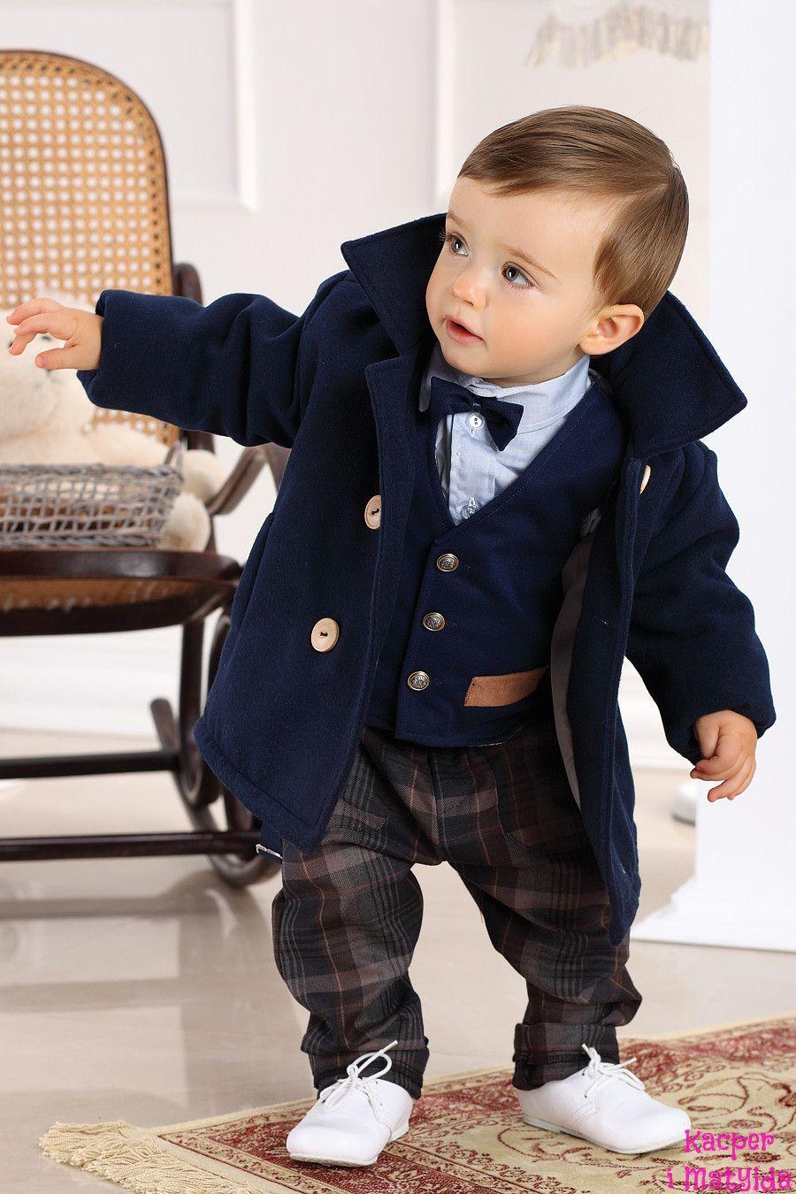 6eaccd39a Elegancki płaszczyk dla chłopca JR Kacper i Matylda mayoral, ubranka do  chrztu, garniturki dla dzieci