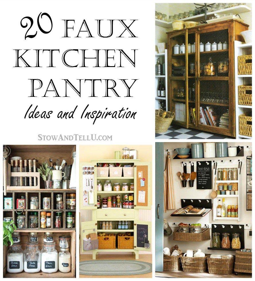 20 Faux Kitchen Pantry Ideas   Pantry ideas, Kitchen pantries and ...