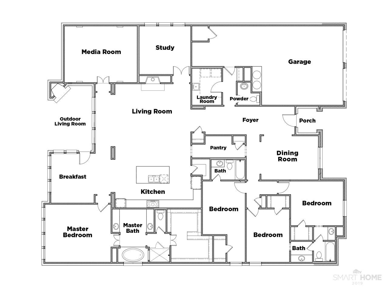 Discover The Floor Plan For Hgtv Smart Home 2019 Floor Plans House Floor Plans Floor Plan App
