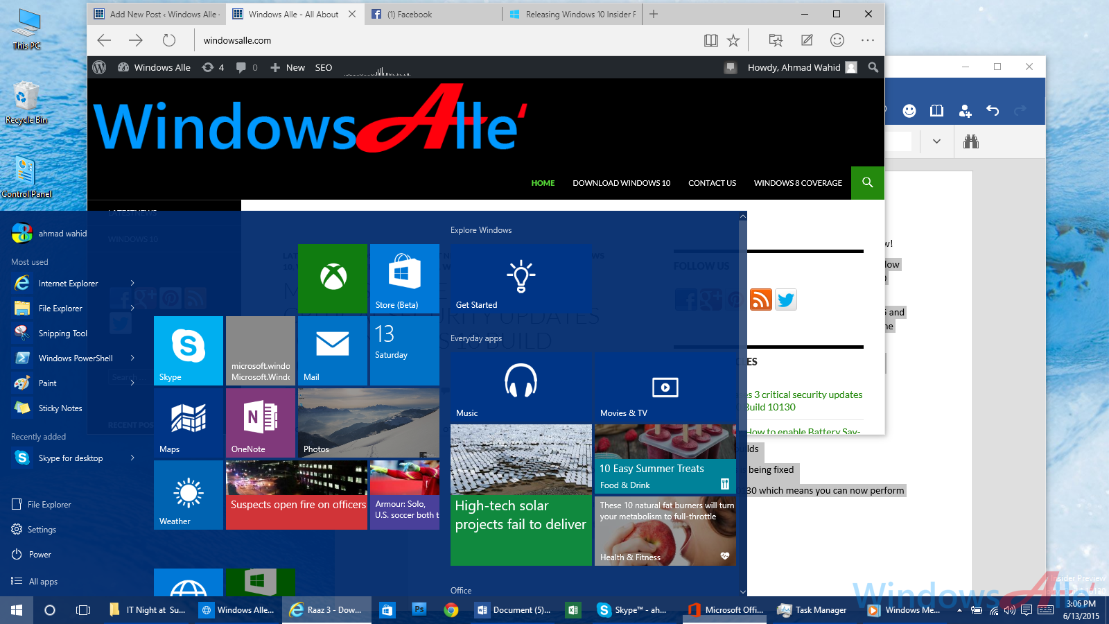Microsoft launches the Windows 10 Insider Preview build