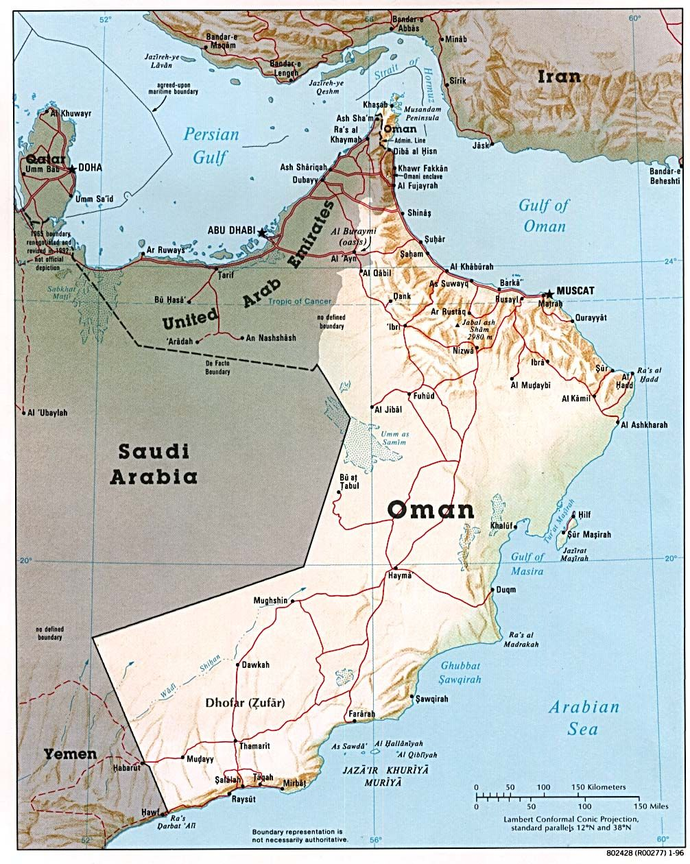 Map of United Arab Emirates and Oman. | Dubai | Country maps, Map