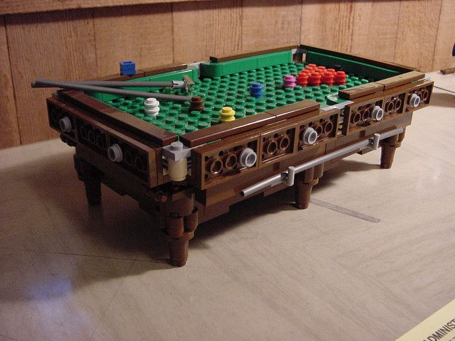 Snooker Table By Lego_mancer, Via Flickr   Best Lego Table Ever!