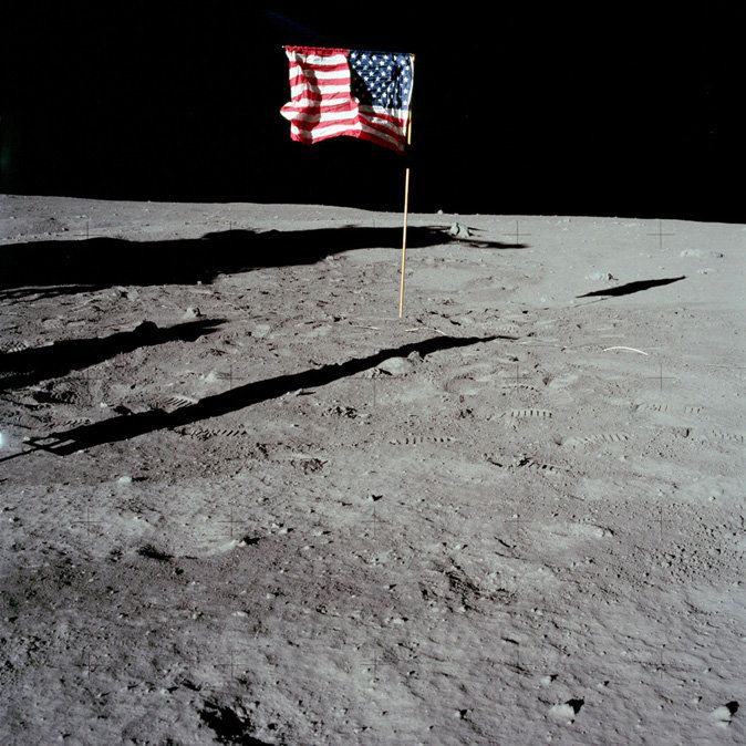 American Flag on the Moon! Sunday July 20, 1969 Apollo 11 ...