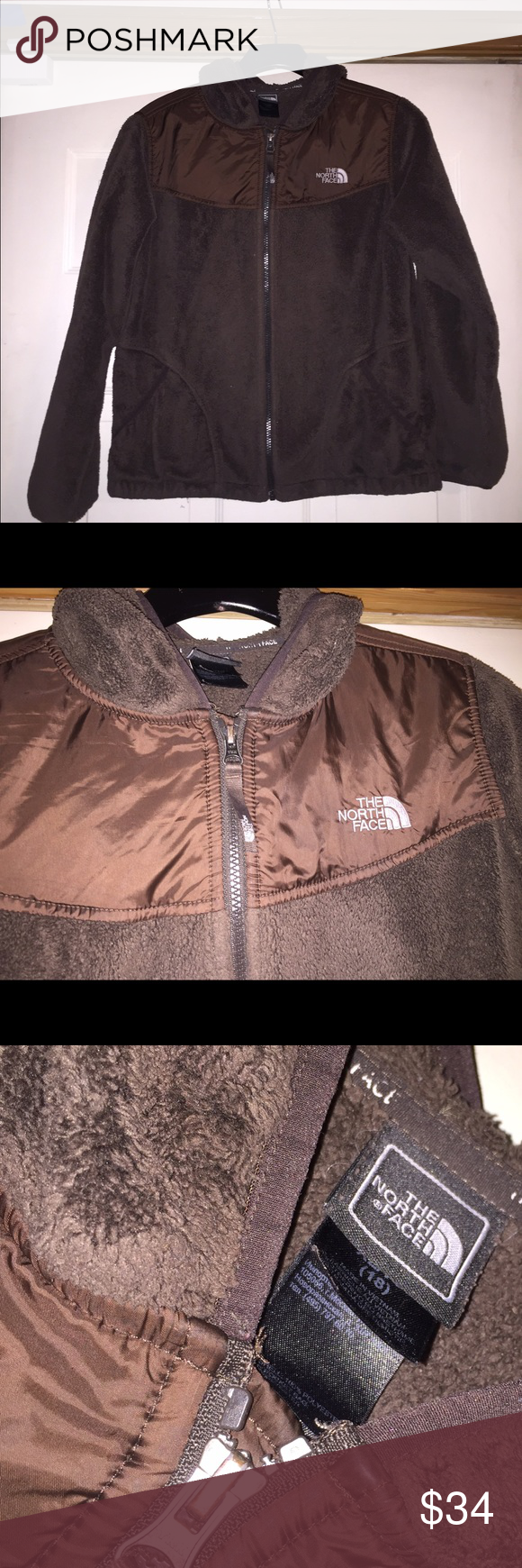 Leather jacket size 18 - Girls Tnf Chocolate Brown Oso Jacket Size 18 I M Sure This Would Fit A