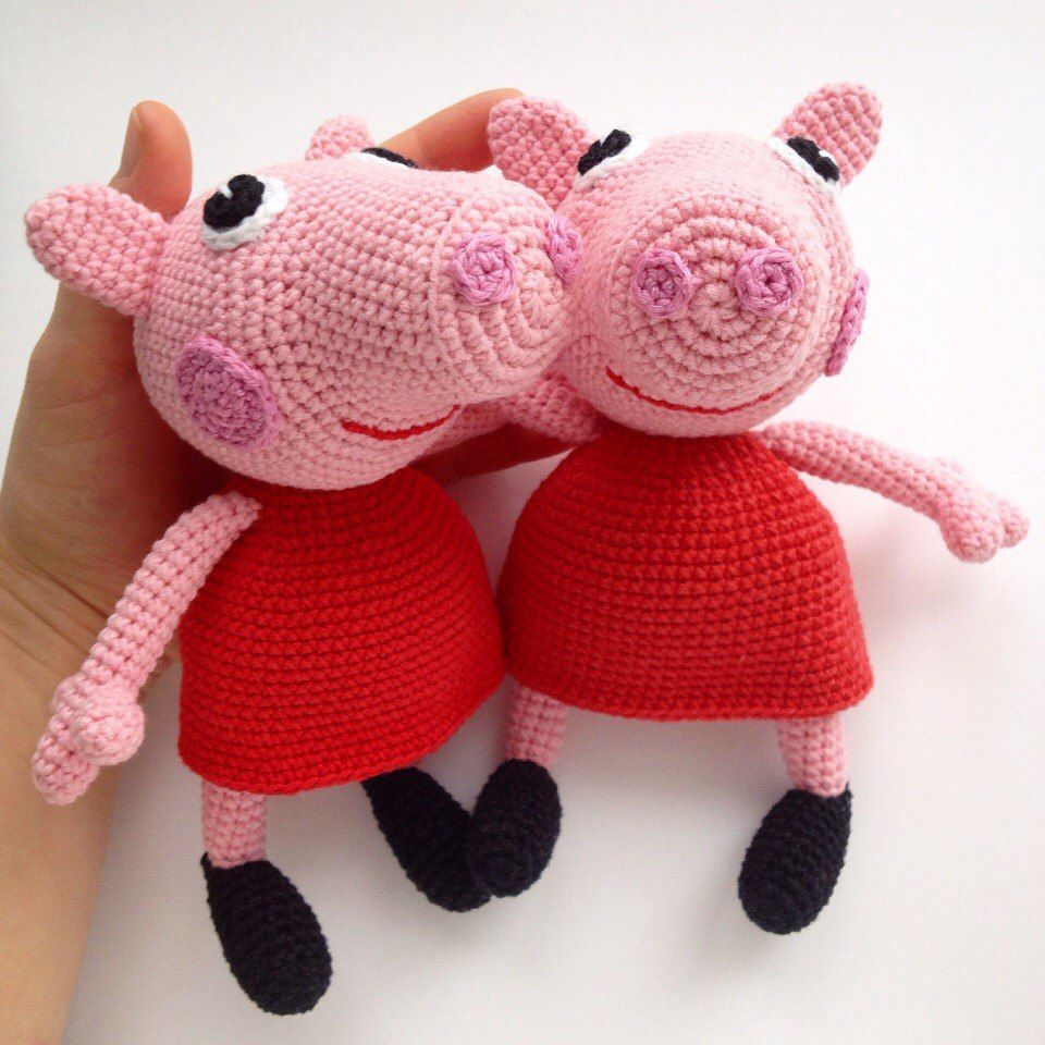 Cartoon Characters Knitting Patterns : The free peppa pig crochet pattern will help you to create