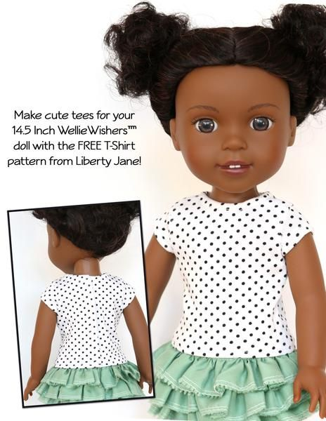 FREE TShirt 4040 Inch Doll Clothes Pattern DIY Projects To Try Enchanting Wellie Wishers Clothes Patterns
