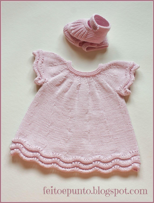 Cómo se hace... vestido de punto para bebé | BEBE | Pinterest | Para ...
