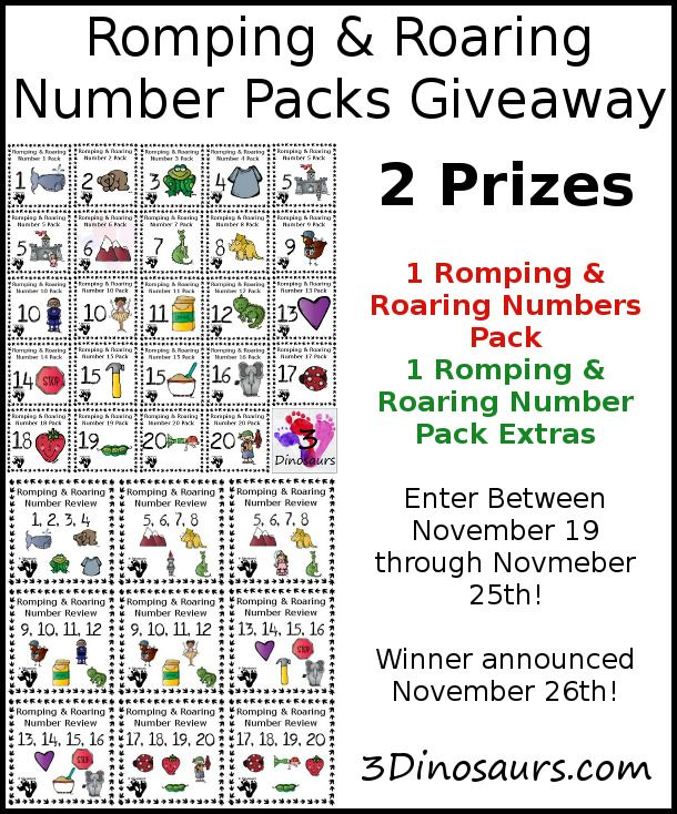 The All New Romping & Roaring Number Packs!   Homeschool ...