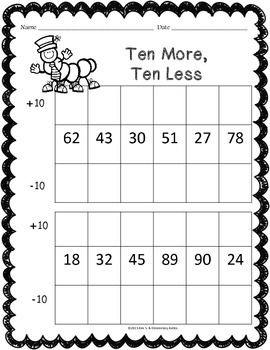 Spring Math Worksheet Pack {1st Grade} Head of the Class