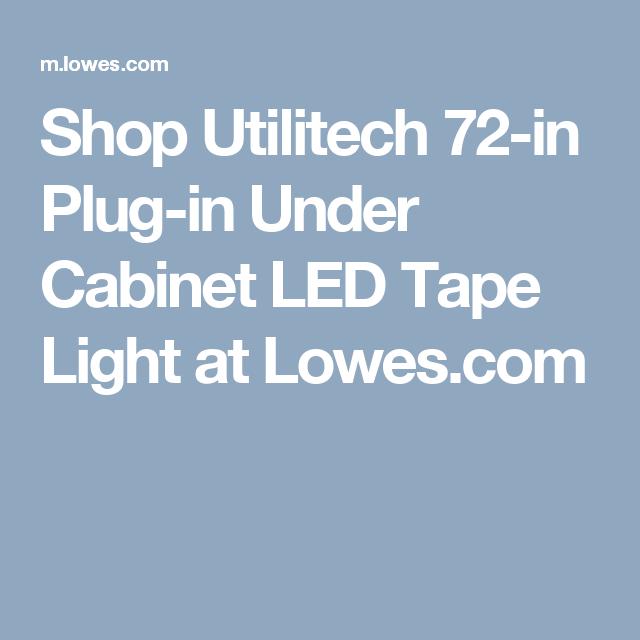 Under Cabinet Led Tape Light At Lowes