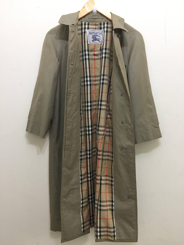 Vintage BURBERRY TRENCH COAT   Burberrys Trench Coat   Burberry Pea Coat    Sherlock Holmes Coat 9ac757749c9