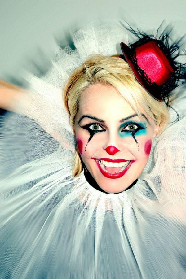 die besten 25 fasching clowngesicht schminken ideen auf pinterest clownsgesicht. Black Bedroom Furniture Sets. Home Design Ideas