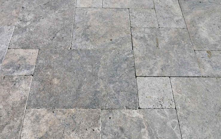 Terrassenplatten Kaufen Terrasse Travertin Fiel Board Silber Zu