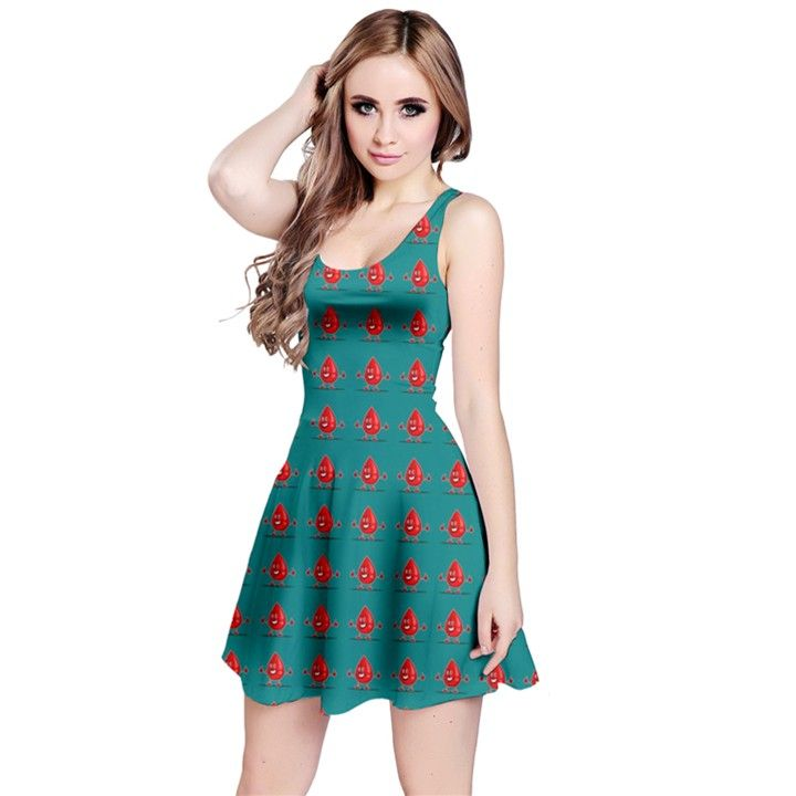 Cute Emoji Blood Drop Reversible Sleeveless Dress | Stuff I
