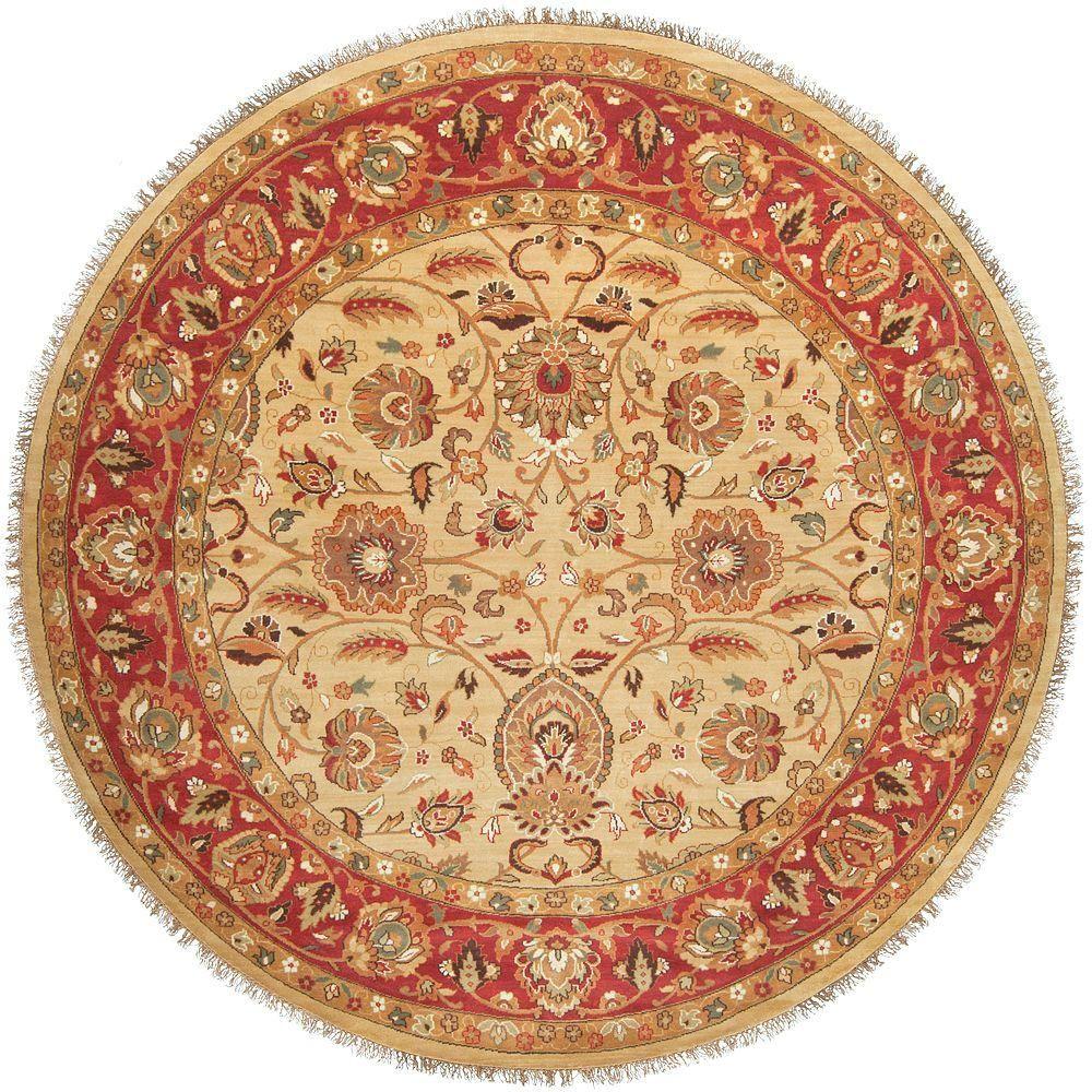 Artistic Weavers Rajbari Red 8 Ft Round Area Rug Area Rug