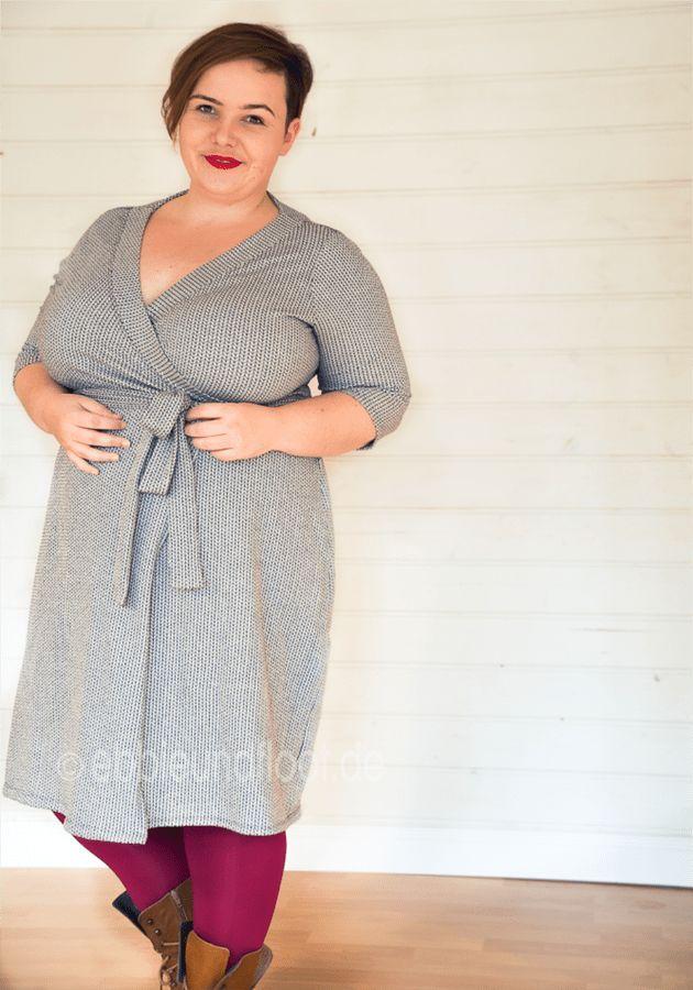 Plus Size Schnittmuster: Wickelkleid - Ein Basic-Kleid für ...