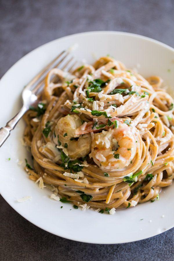 Garlic Butter White Wine Shrimp Linguine Pinch Of Yum Recipe Linguine Recipes Recipes Food