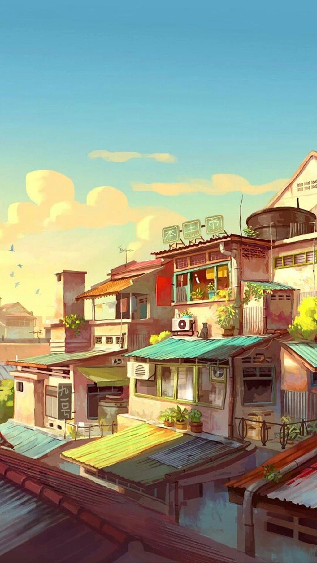 Pin oleh Huyền Jin di CẢNH (ANIME) Pemandangan anime