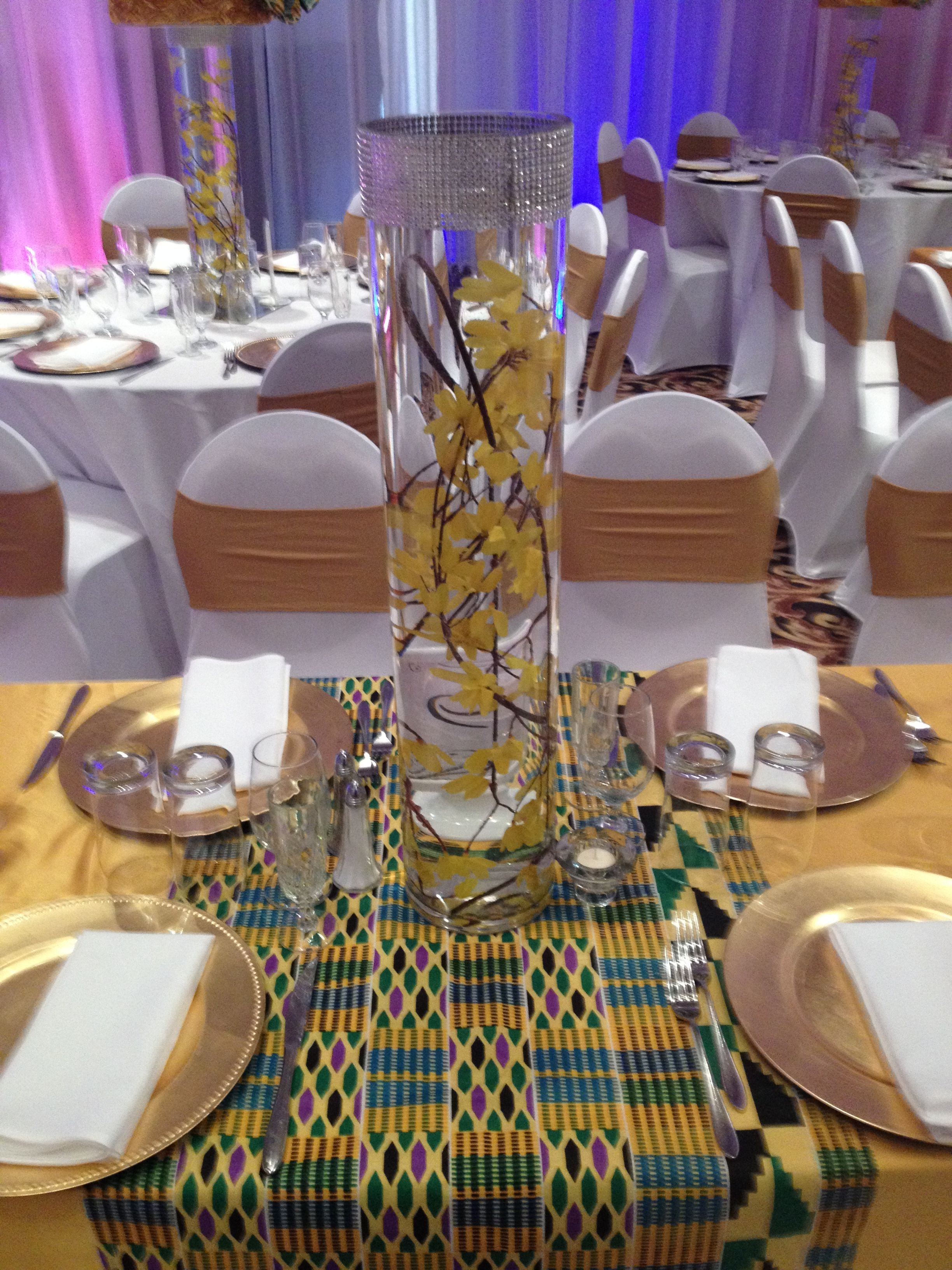 African Pattern Table Setting in 2019 African wedding