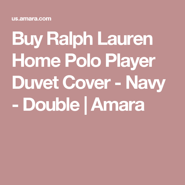 Buy Ralph Lauren Home Polo Player Duvet Cover - Navy - Double | Amara