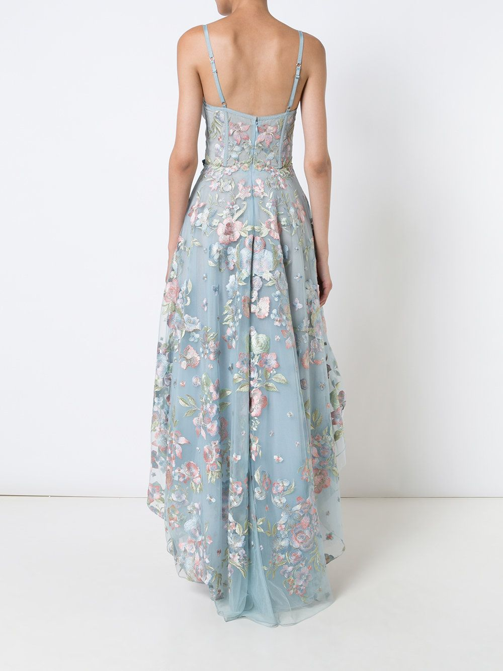 Marchesa Notte Floral Embroidered High-low Dress | Marchesa, High ...