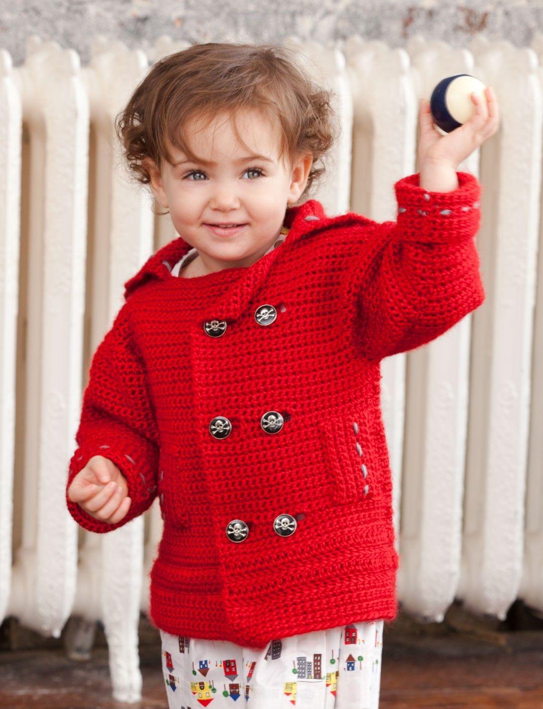 Pea-wee Coat | Croché | Xerseis, chaquetas, ponchos | Pinterest ...