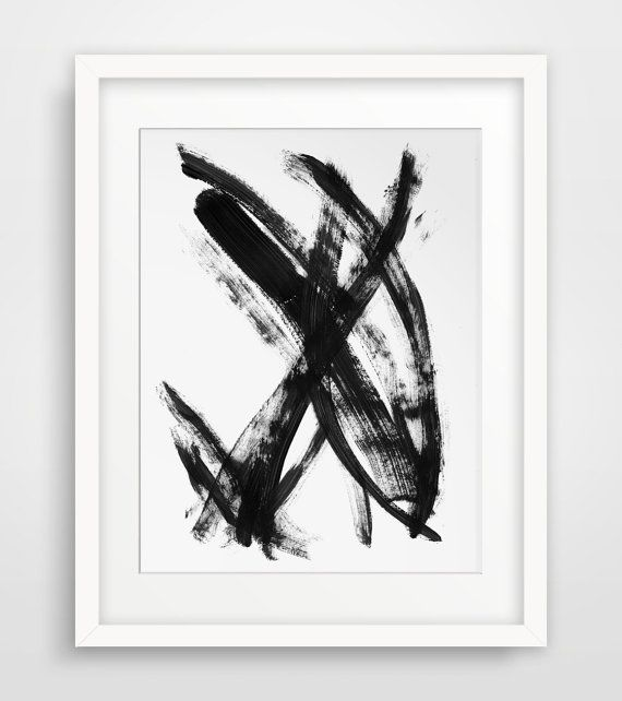Black Brush Stroke - Printable Wall Art - Perfect artwork for the  minimalist home or the