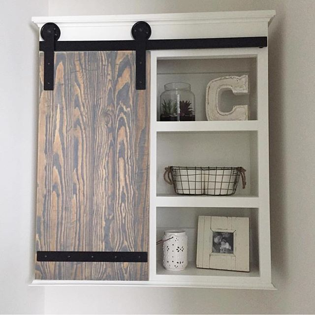 Sarah Check Hearth Cabinet: Check Out What Sarah's Hubby Built For Her Bathroom