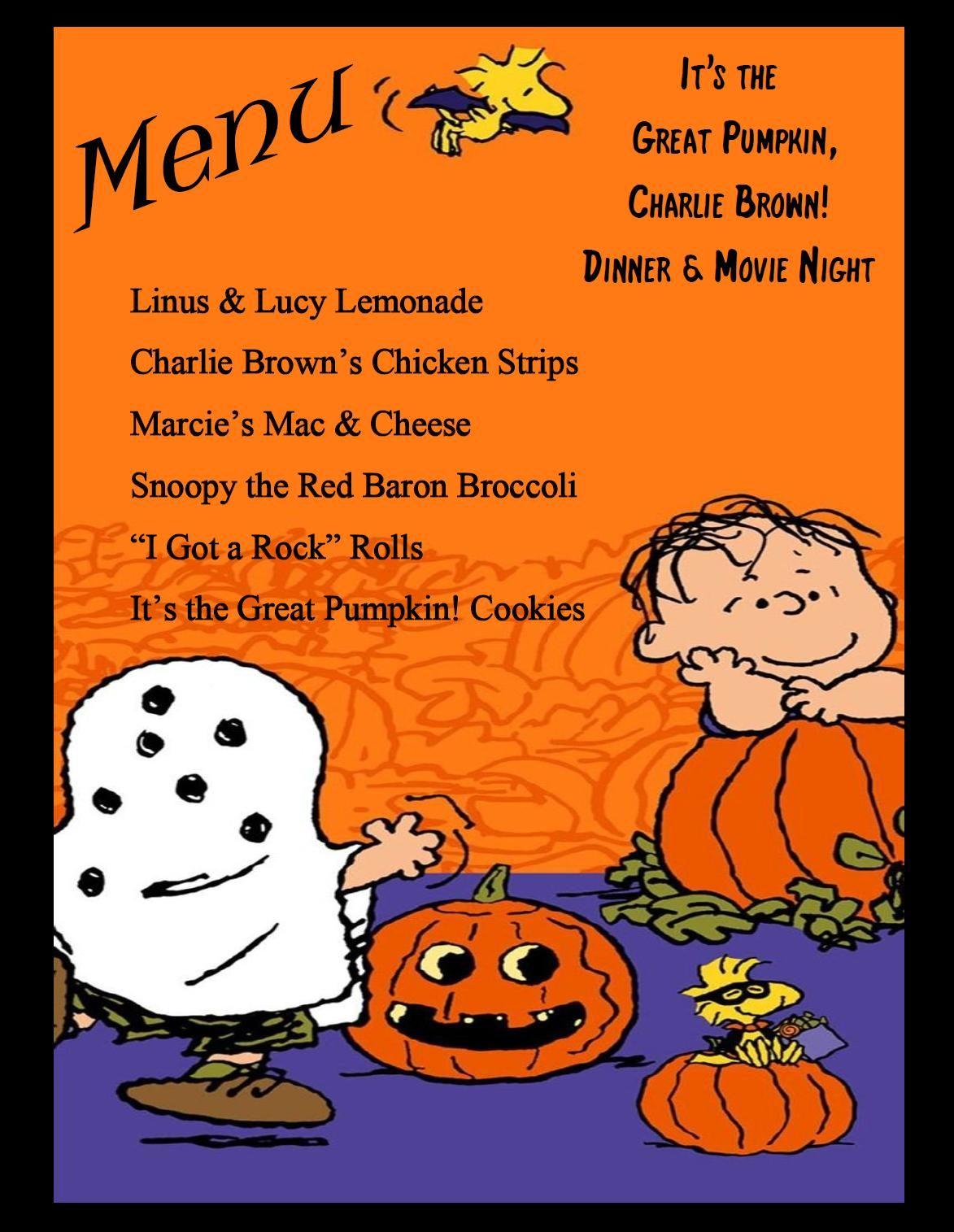 It S The Great Pumpkin Charlie Brown Dinner Amp Movie