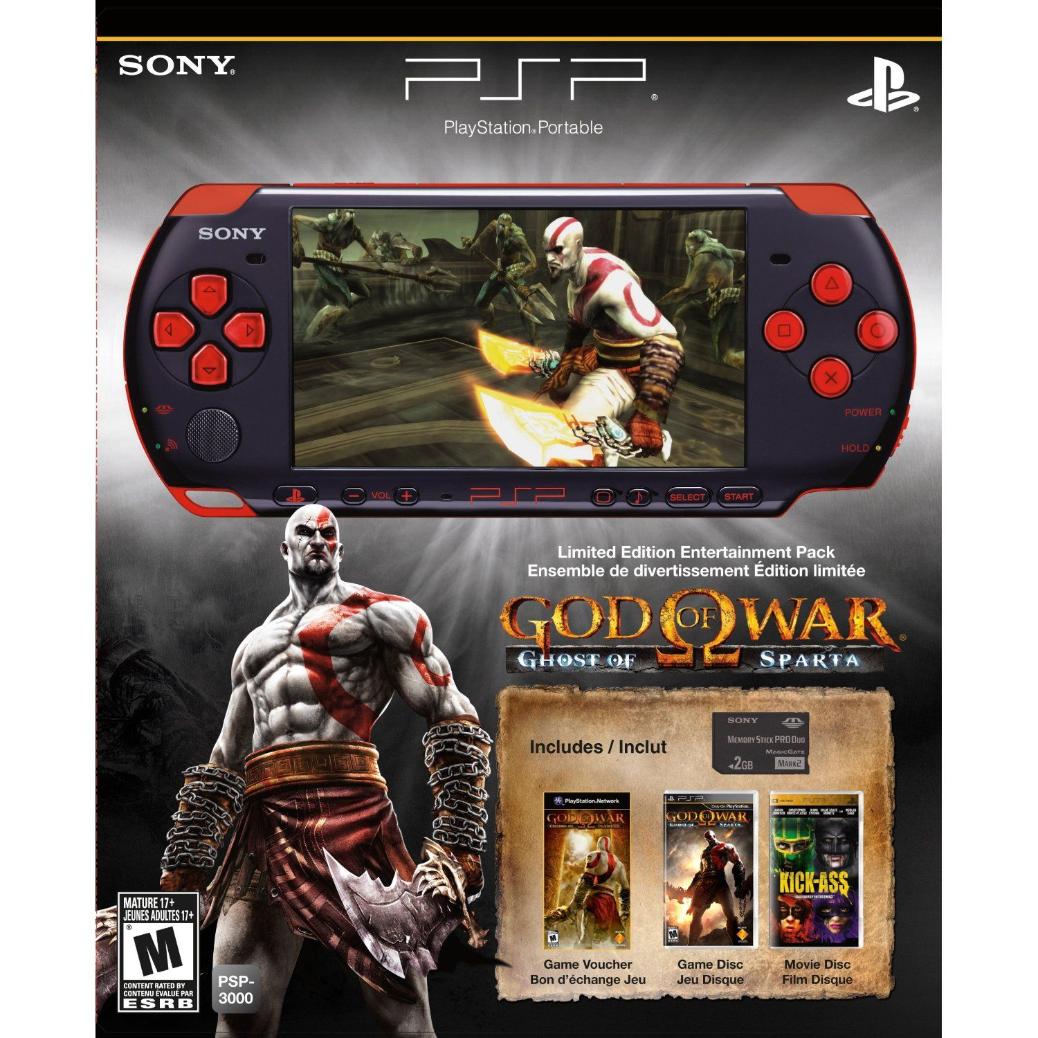 PlayStation Portable Limited Edition God of War Ghost of