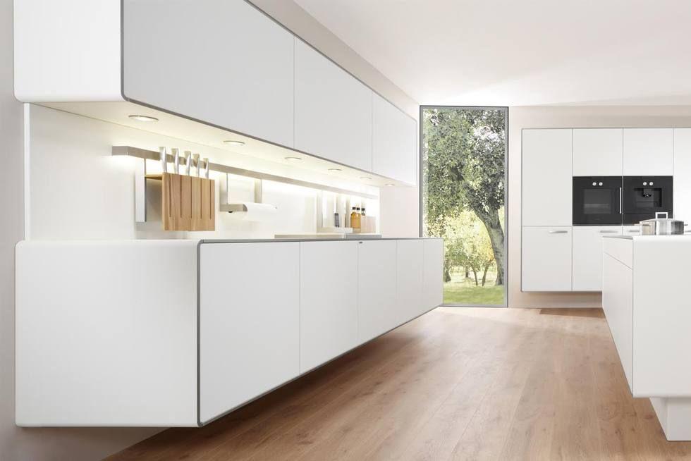 Küche Mit Holzboden: 9 Bilder & Ideen Von Küchen Mit Parkett Und ... Wohnzimmer Modern Parkett