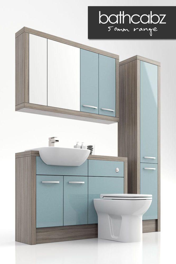 Duck Egg Blue Driftwood Bathroom Ed Furniture 1200mm
