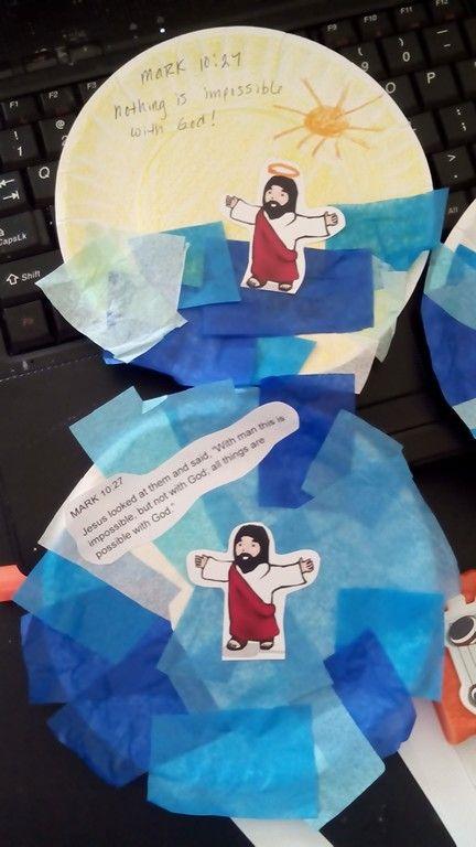 Jesus Walks On Water Kids Art Project