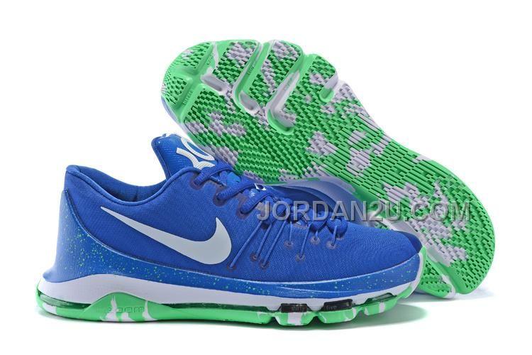 http://www.jordan2u.com/nike-kd-8-royal-blue-green-white.html Only$74.00 #NIKE KD 8 ROYAL BLUE GREEN WHITE #Free #Shipping!