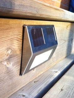 solar powered lights illuminate steps or deck chago