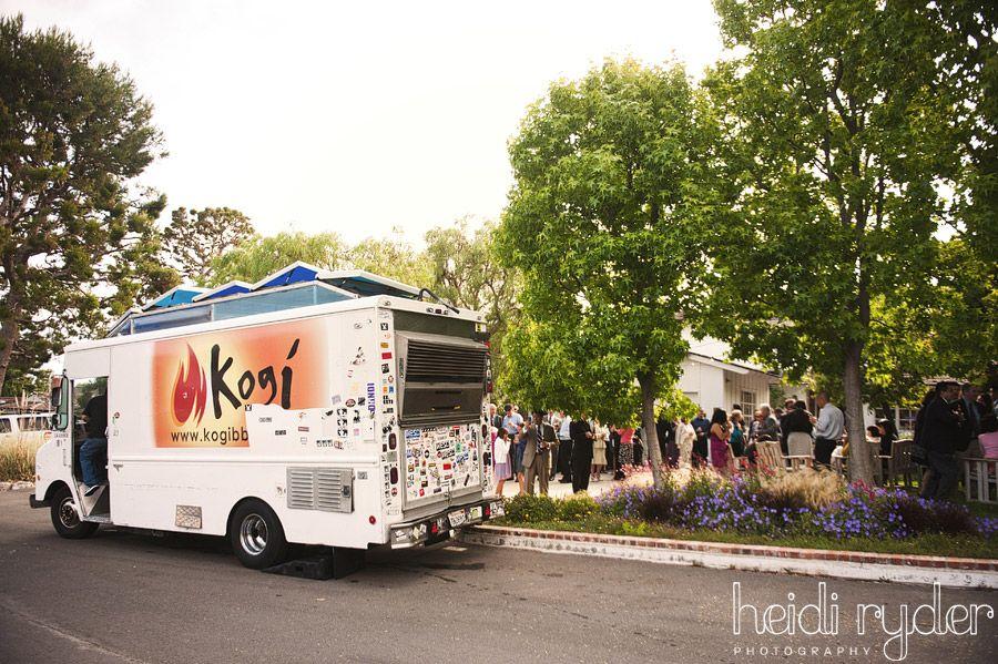 Just love a backyard wedding and food trucks food
