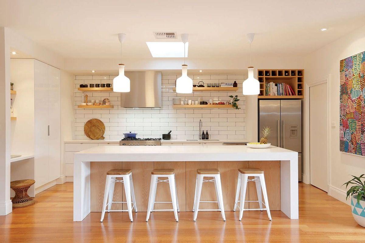 White Interior Kitchen Designs Arranged By Modern and Chic Decor