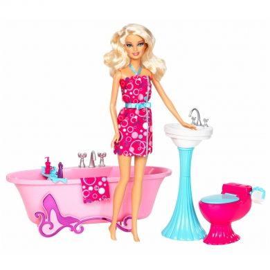 mattel barbie meubels met pop badkamer