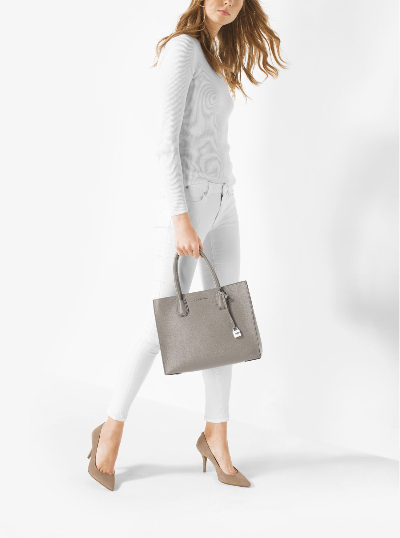 51d765ac295c MICHAEL KORS Mercer Large Leather Tote. #michaelkors #bags #canvas #tote # leather #lining #polyester #shoulder bags #hand bags #