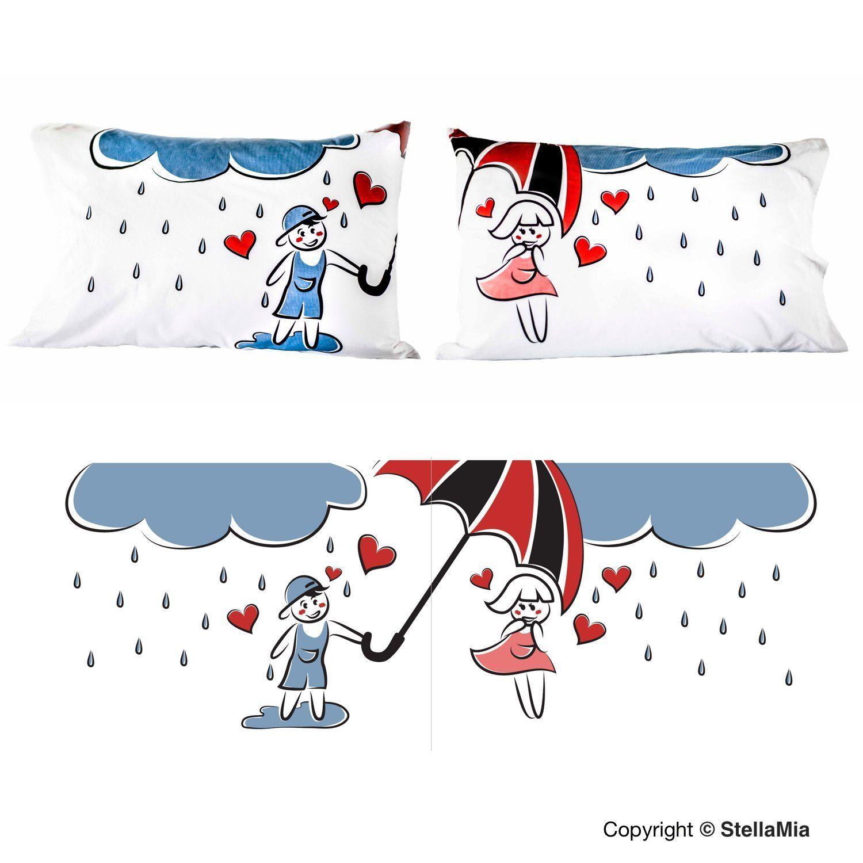 Amazon.com: Couple\'s Pillowcase Set - \