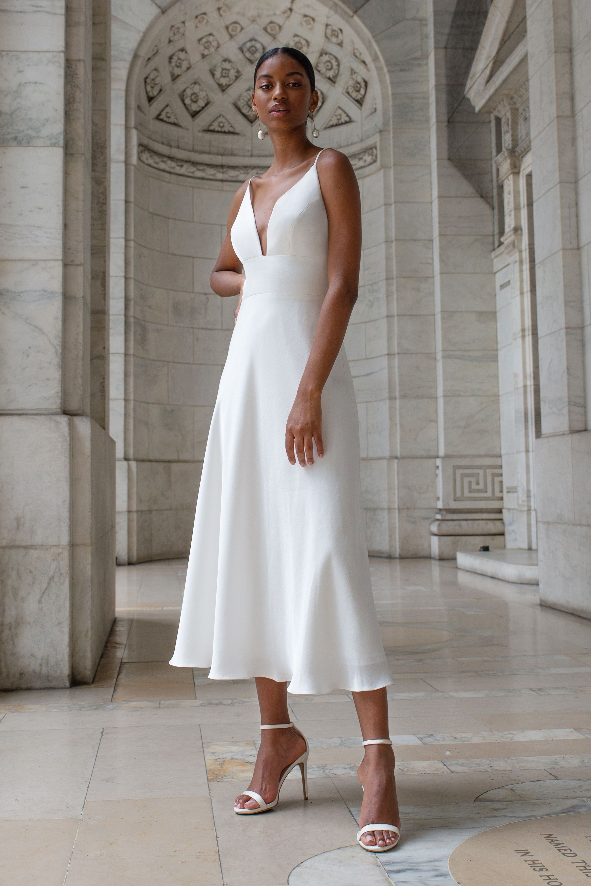 Jenny Yoo Campbell Little White Dresses Simple Wedding Dress Short Dresses [ 3600 x 2400 Pixel ]