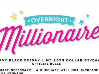 Old Navy Black Friday 1 Million Dollar Giveaway Old Navy Black Friday Old Navy Black Friday