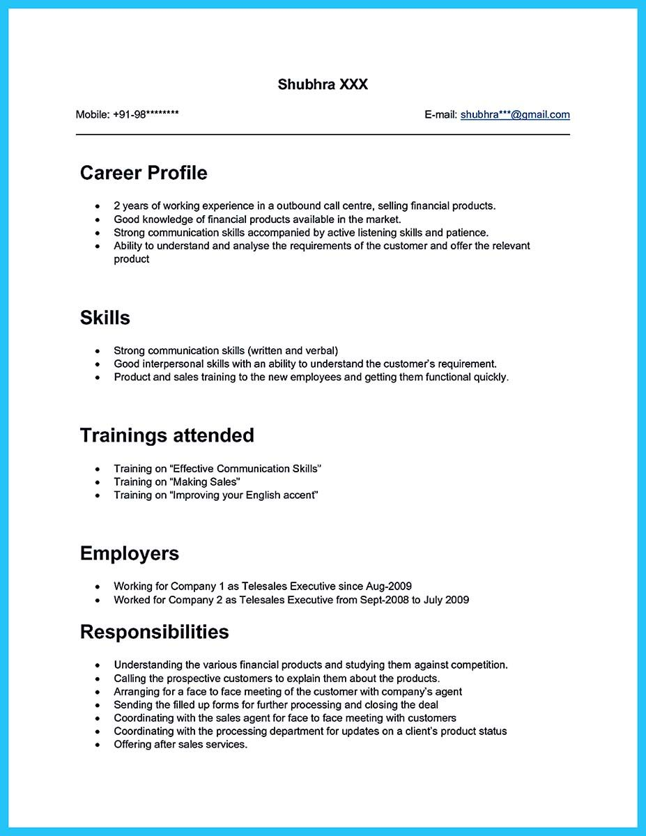 sample objectives in resume for call center agent