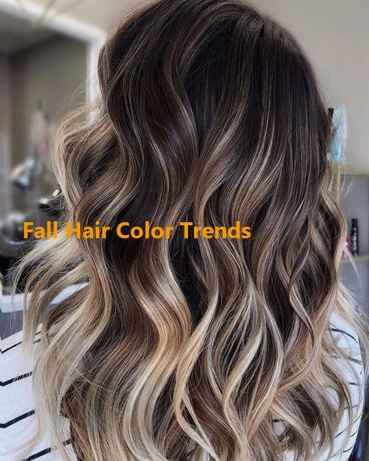 10 Medium to Long Hair Styles - Ombre Balayage… #fallhaircolors