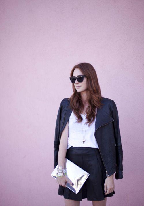 nice flirtatious leather fashion blog